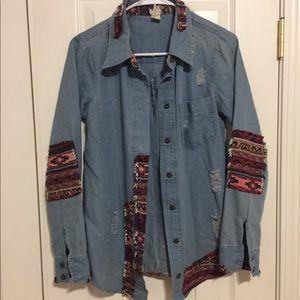Tops - Jean button up shirt